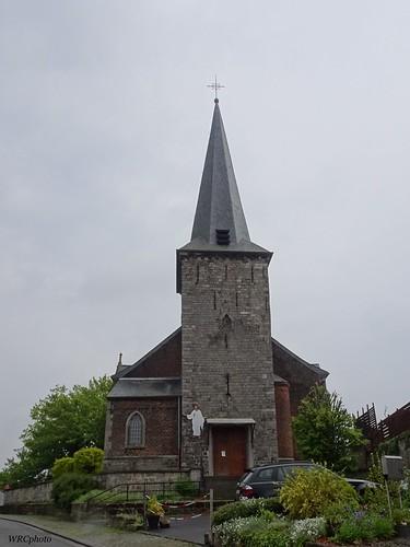 L'église Saint-Jean-Baptiste à maurage, Belgique.