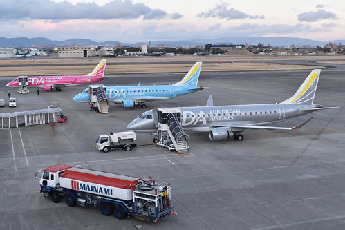 Fuji Dream Airlines x3. Nagoya Komakai, 13-3-2019