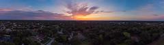 Backyard Sunset Panarama