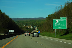 I-68 East - Exit 10 - WV43 North One MIle