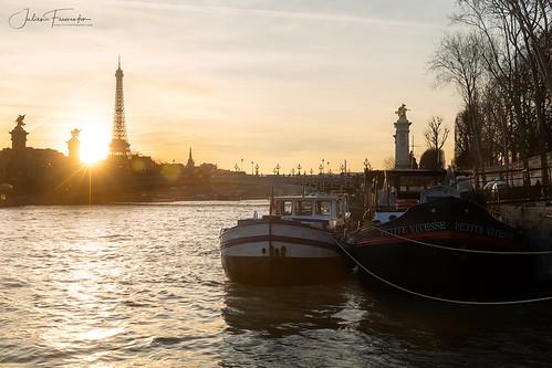 Tour Eiffel & Péniches, Paris