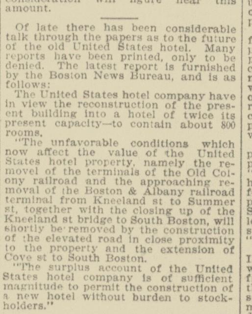 Photo:United States Hotel - updates - Bos Globe 7-10-1899 By clamshack