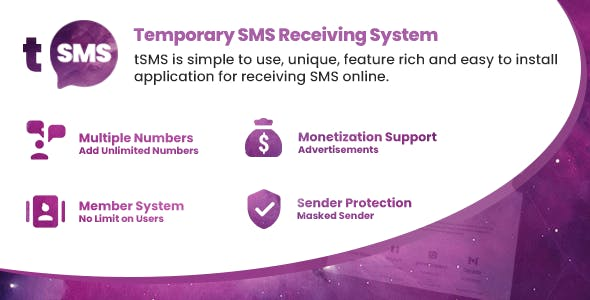 tSMS - Temporary SMS Receiving System