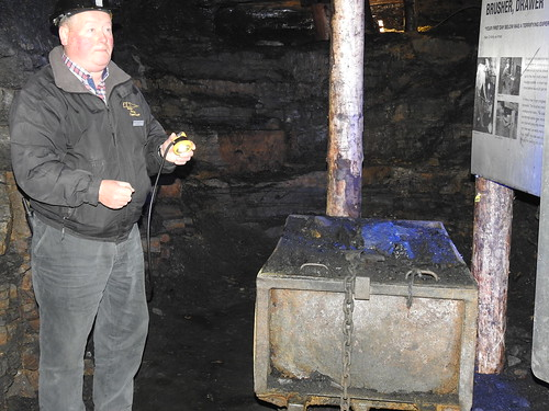 A coal waggon 'a Hutch of coal' at Arigna Mining Experience, ready for despatch