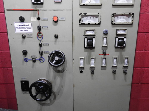 German control panel from the Arigna power station. Arigna Mining Experience