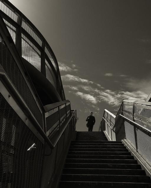 steps on the bridge