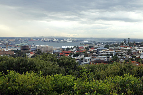 Scenic view of Port Hunter - Newcastle Memorial Walk -