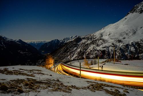 Alp Grüm: Last train down! (2/4)