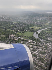 Back to London, flying over Richmond