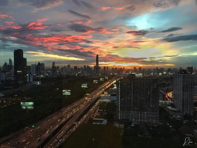 Bangkok sunset from a condo