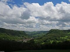 Vue sur Salins les Bains - Jura