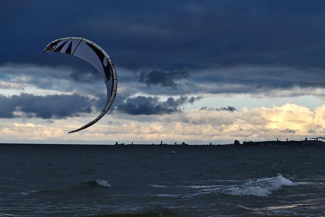 Kitesurfing in the Baltic Sea
