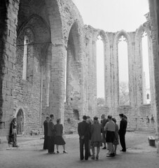 Visitors in St. Katarina church ruin, Visby, Gotland, Sweden
