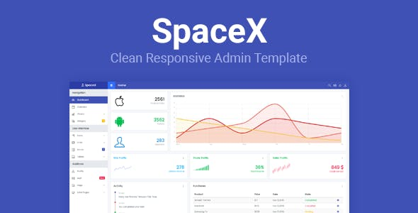 SpaceX v1.0 - Bootstrap Admin Template