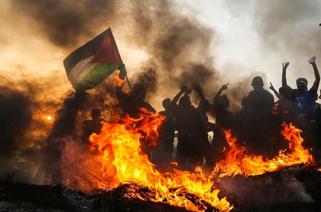 Relatório da ONU mostra que Israel cometeu crimes contra a humanidade e crimes de guerra ao reprimir as manifestações - Créditos: Mahmud Hams/AFP