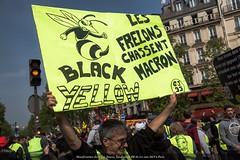 Paris, manifestation des Gilets Jaunes, syndicats, BB 1er mai 2019
