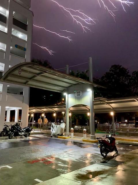 Creeping forked lightning.