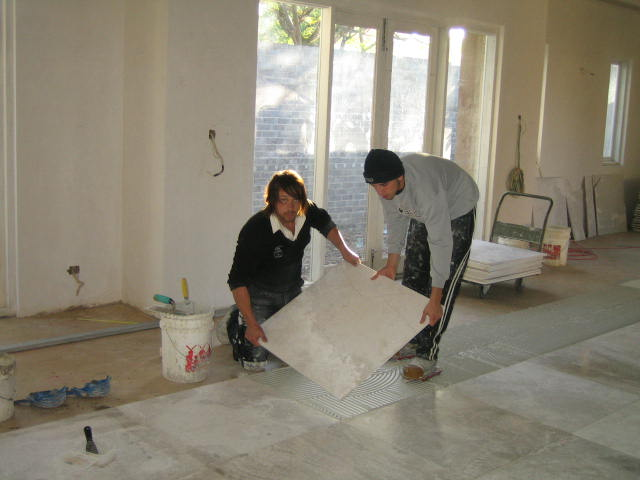 marble-laying