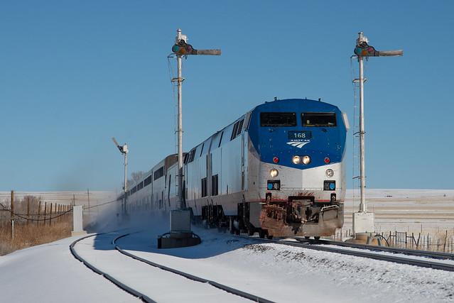 Amtrak 3 at Wagon Mound, NM