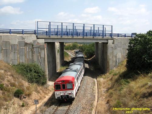 Tren de Cercanías de Renfe (Línea C-5) a su paso por JERICA (CASTELLON)