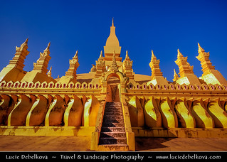 Laos - National Symbol - Pha That Luang - The Golden Stupa in Vientiane
