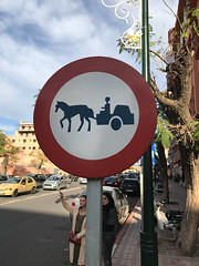 Moroccan Street Sign - Caution Donkey Cart