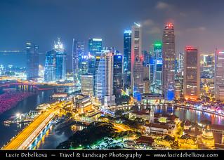 Qatar - Blue Hour over Newly Built Doha Skyline