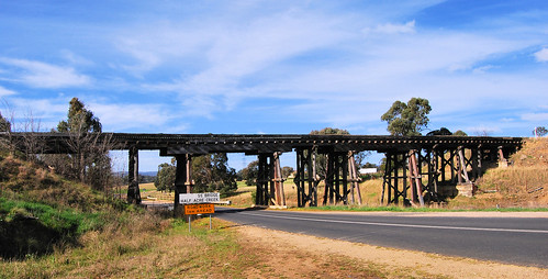 Rail Bridge, Lue, NSW.