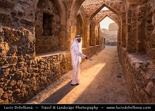 Bahrain - Bahraini Man in Bahrain Fort (Qal' at al-Bahrain)