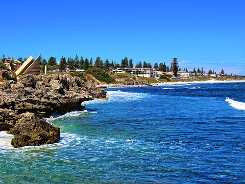 12 March 2019 - View of South Cottesloe & beach from the Cottesloe Groyne, Perth, Western Australia