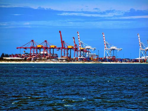 12 March 2019 - Dock crane-scape at Port Fremantle, Perth, Western Australia