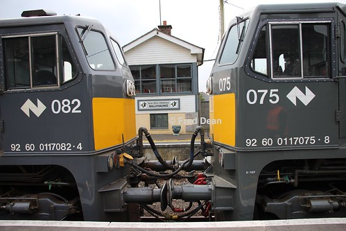 Irish Rail 075 + 082 in Ballyhaunis