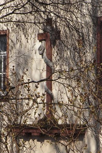 20110324 0211 445 Jakobus Geisa Baum Haus Kreuz Schlange Statue_01a