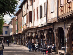Mirepoix, part of the large medieval market place. Ariège, France. - Photo of Lagarde