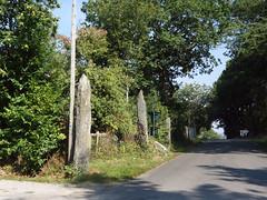 L'alignement de menhirs du bourg de Saint-Just - Ille-et-Vilaine - Septembre 2018 - 09 - Photo of Bruc-sur-Aff