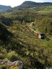Vue sur la Furieuse des rochers de la Côte d'Arelle - Salins Les Bains - Jura