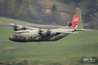 RAF Hercules ZH887 low level at Ambleside