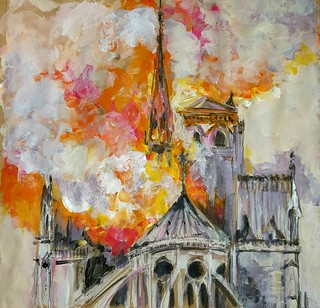 Hommage à Notre Dame de Paris. 19 04 2019
