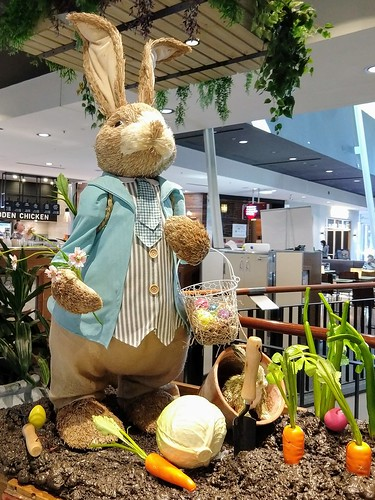 From the Mall: Easter display at Woden Plaza, Canberra.