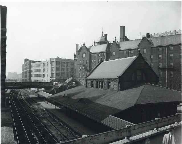 Photo:Boston and Albany RR - Trinity_Place_station,_circa_1940s By clamshack