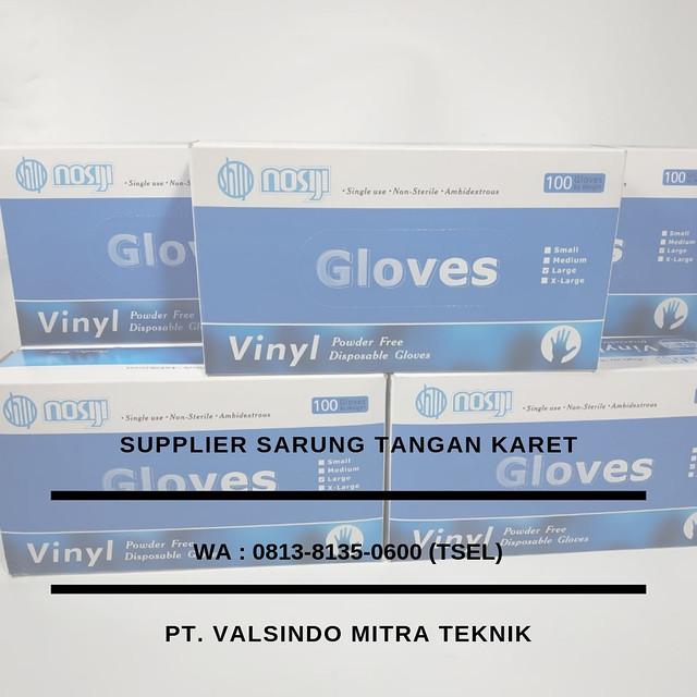 Kami Distributor Sarung Tangan Karet, Nitril, Vinyl, dan Latex Merk Nosiji  di Malang, Kediri, Mojokerto, dan Depok , 0813-8135-0600 (Tsel)