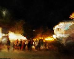 La Villita. Night street scene.