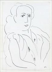 Portrait de Monique Bourgeois d'Henri Matisse (Chapelle Matisse, Vence)