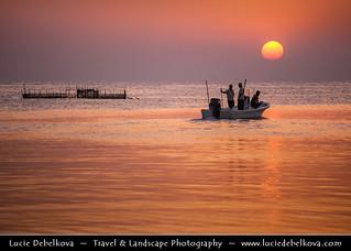 Bahrain - Sunrise Fishing at the Askar Beach