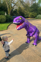 Meeting the dinosaur