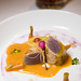 Pacific Red Tuna, orange and soy marinade, coriander root
