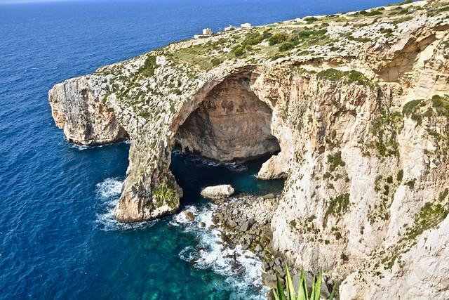 Blue Grotto caverns of Malta.