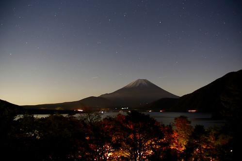 Mt. Fuji on an autumn night