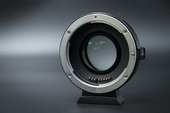 Front view of a VILTROX EF-EOS M2 Lens Adapter 0.71x Speed Booster