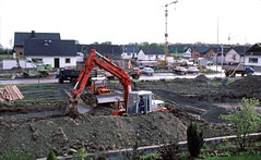House construction, Langenwinkel,    May 5th,  1979 - Photo of Daubensand